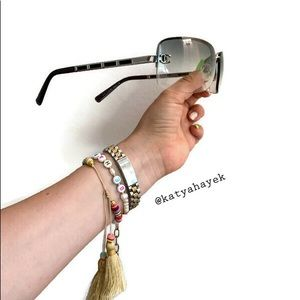 😎 Chanel Rimless Vintage Sunglasses 😎